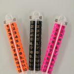 Anillas abiertas plástico diámetro 10mm con serial